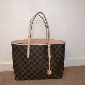 Michael Kors checkered tote